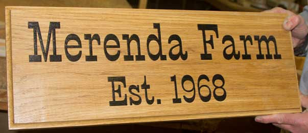 4c064338816 Wooden House Signs - Oak Name Plates - Wood Posts