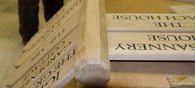 Wooden Posts Oak Posts Wrought Iron Bracket The Sign Maker