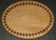 Oval base with extra decorative border