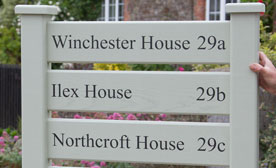 Wooden Ladder Signs - available painted or carved into natural timber