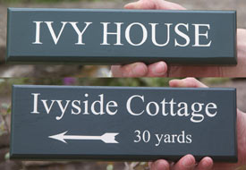 Accoya wood signs are a similar price to oak