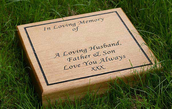 Wooden Lawn Memorial - perfect for woodland burial