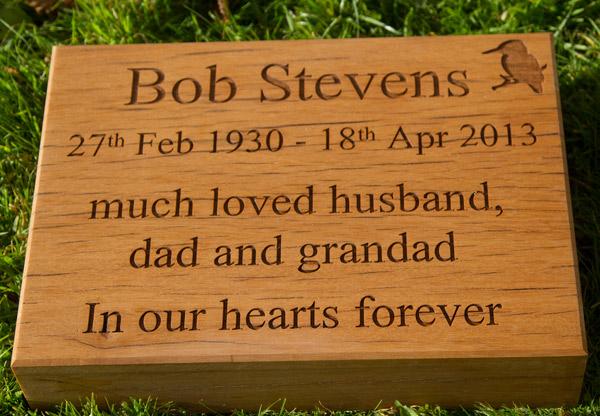 Woodland Burials Memorial Plaques Wooden Memorials The Sign Maker