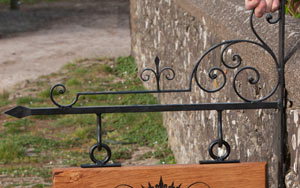 Medieval style wrought iron bracket